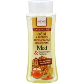 Bione Cosmetics Honey + Q10 removedor de maquilhagem bifásico para rosto e olhos  255 ml