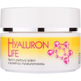 Bione Cosmetics Hyaluron Life нічний крем для шкіри обличчя з гіалуроновою  кислотою  51 мл