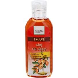 Bione Cosmetics Keratin Argan олійка для темних відтінків волосся  80 мл