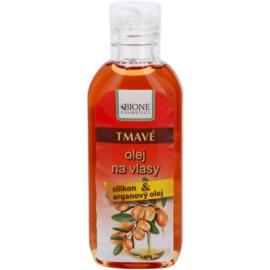 Bione Cosmetics Keratin Argan olejek do włosów ciemnych  80 ml