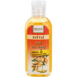 Bione Cosmetics Keratin Argan olje za svetle odtenke las  80 ml