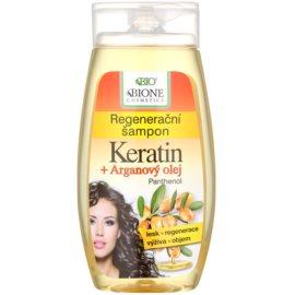 Bione Cosmetics Keratin Argan regenerační šampon pro lesk a hebkost vlasů  260 ml
