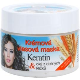 Bione Cosmetics Keratin Grain krémová maska pre všetky typy vlasov  260 ml