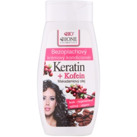Bione Cosmetics Keratin Kofein kremowa odżywka bez spłukiwania  250 ml