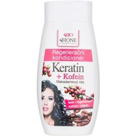 Bione Cosmetics Keratin Kofein condicionador regenerador para cabelo  260 ml