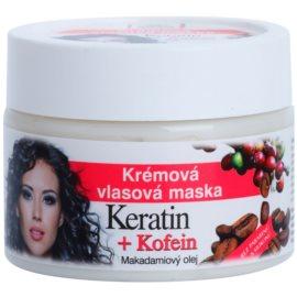 Bione Cosmetics Keratin Kofein Creme-Maske für das Haar  260 ml