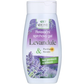 Bione Cosmetics Lavender relaksacijski gel za prhanje  260 ml