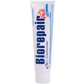 Biorepair Plus Sensitive Pasta restauradora de esmalte dentário para dentes sensíveis  75 + 25 ml