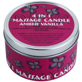 BK Beauty Body Spa Amber Vanilla masážna sviečka 4 v 1 (Massage Oil & Body Balm in One) 180 g