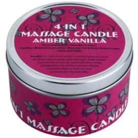 BK Beauty Body Spa Amber Vanilla masážní svíčka 4 v 1 (Massage Oil & Body Balm in One) 180 g