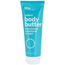 Bliss Bath & Body Naked pflegende Körpercreme mit Kokosöl  200 ml