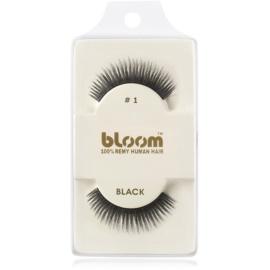Bloom Natural ragasztható műszempilla természetes hajból No. 1 (Black) 1 cm