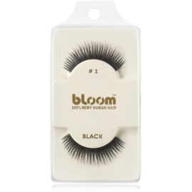 Bloom Natural faux-cils de vrais cheveux No. 1 (Black) 1 cm