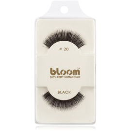 Bloom Natural faux-cils de vrais cheveux No. 20 (Black) 1 cm