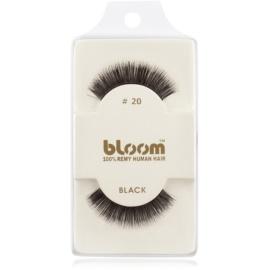 Bloom Natural ragasztható műszempilla természetes hajból No. 20 (Black) 1 cm