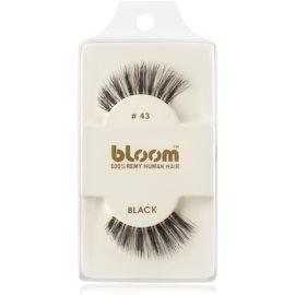 Bloom Natural ragasztható műszempilla természetes hajból No. 43 (Black) 1 cm