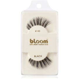 Bloom Natural faux-cils de vrais cheveux No. 43 (Black) 1 cm