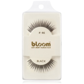 Bloom Natural faux-cils de vrais cheveux No. 46 (Black) 1 cm