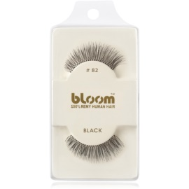 Bloom Natural faux-cils de vrais cheveux No. 82 (Black) 1 cm