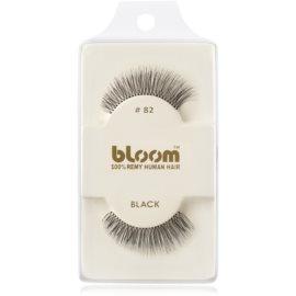 Bloom Natural ragasztható műszempilla természetes hajból No. 82 (Black) 1 cm