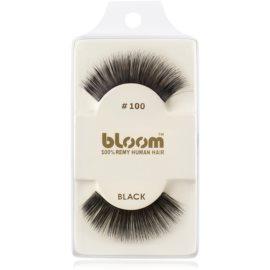 Bloom Natural ragasztható műszempilla természetes hajból No. 100 (Black) 1 cm