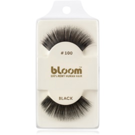 Bloom Natural faux-cils de vrais cheveux No. 100 (Black) 1 cm