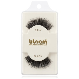 Bloom Natural faux-cils de vrais cheveux No. 117 (Black) 1 cm