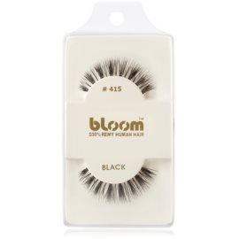 Bloom Natural ragasztható műszempilla természetes hajból No. 415 (Black) 1 cm