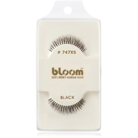 Bloom Natural ragasztható műszempilla természetes hajból No. 747XS (Black) 1 cm