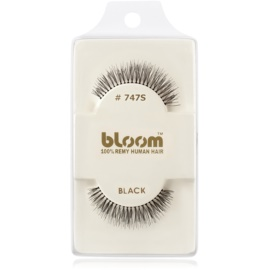 Bloom Natural faux-cils de vrais cheveux No. 747S (Black) 1 cm