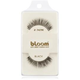 Bloom Natural ragasztható műszempilla természetes hajból No. 747M (Black) 1 cm