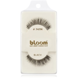 Bloom Natural faux-cils de vrais cheveux No. 747M (Black) 1 cm
