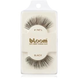 Bloom Natural ragasztható műszempilla természetes hajból No. 747L (Black) 1 cm