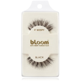Bloom Natural faux-cils de vrais cheveux (Wispy, Black) 1 cm