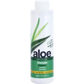 Bodyfarm Natuline Aloe champô para cabelos normais e secos com aloe vera   250 ml