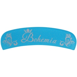 Bohemia Crystal Bohemia Glitter szklany pilniczek do paznokci z brokatem odcień