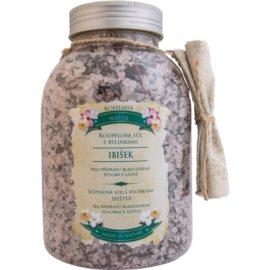 Bohemia Gifts & Cosmetics Bohemia Natur relaxačná kúpeľová soľ s ibištekom  1 200 g