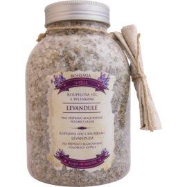 Bohemia Gifts & Cosmetics Bohemia Natur sales de baño calmantes con hierbas con lavanda  1200 g