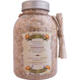 Bohemia Gifts & Cosmetics Bohemia Natur kúpeľová soľ s tromi druhmi bylín harmanček, nechtík, materina dúška  1 200 g