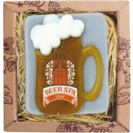 Bohemia Gifts & Cosmetics Beer Spa ročno izdelano milo z glicerinom  85 g