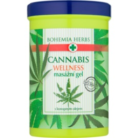 Bohemia Gifts & Cosmetics Cannabis masážny gél s konopným olejom  380 ml