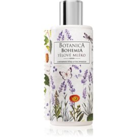 Bohemia Gifts & Cosmetics Botanica mleczko do ciała o zapachu lawendy z olejkami eterycznymi i ekstraktami roślinnymiz olejkami eterycznymi i ekstraktami roślinnymi 200 ml