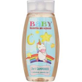 Bohemia Gifts & Cosmetics Baby champô para corpo e cabelo com extrato de chá verde  250 ml