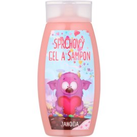 Bohemia Gifts & Cosmetics Creatures tusfürdő gél és sampon 2 in 1 Strawberry 250 ml