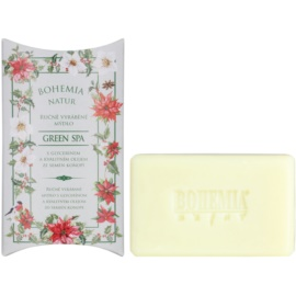 Bohemia Gifts & Cosmetics Green Spa jabón con textura de crema con glicerina  100 g