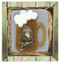 Bohemia Gifts & Cosmetics Beer jabón hecho a mano con glicerina  85 g