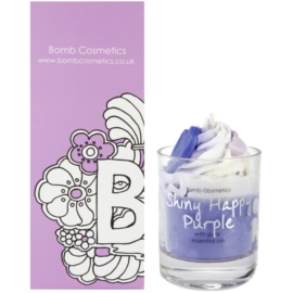 Bomb Cosmetics Piped Candle Shiny Happy Purple vela perfumada