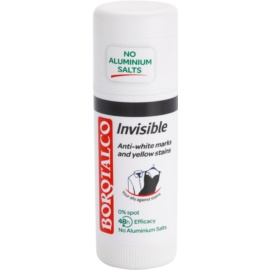 Borotalco Invisible Deodorant Stick To Treat White And Yellow Stains 48 h  40 ml