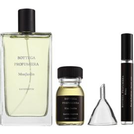 Bottega Profumiera Mon Jardin Geschenkset I. Eau de Parfum 100 ml + Eau de Parfum Füllung 30 ml + nachfüllbare Flasche 10 ml + trichter