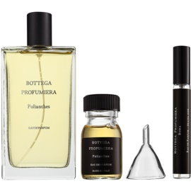 Bottega Profumiera Polianthes coffret I. Eau de Parfum 100 ml +  recarga de perfume 30 ml + frasco recarregável 10 ml + funil